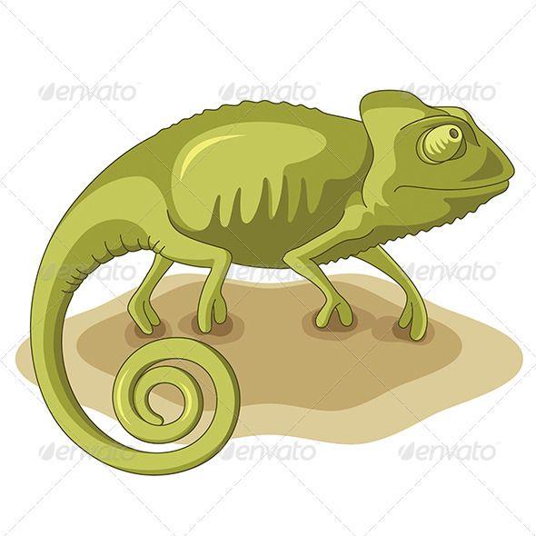 Realistic graphic download ai. Chameleon clipart adorable