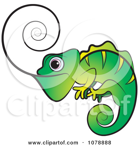Tongue pencil and in. Chameleon clipart adorable