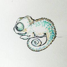 Cute cartoon google search. Chameleon clipart adorable