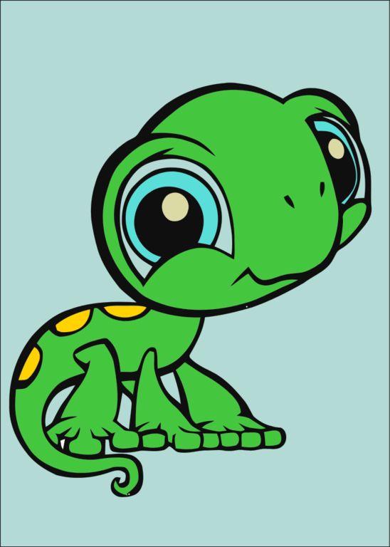 Chameleon clipart adorable. Big cute eyes cartoon