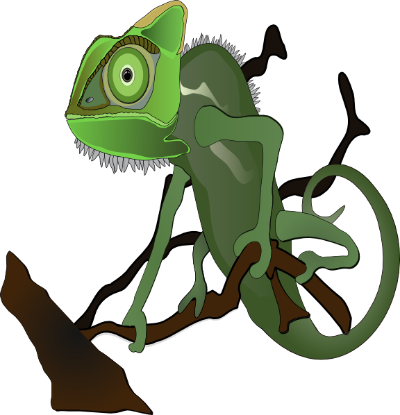 Chameleon clipart animated. Clip art at clker