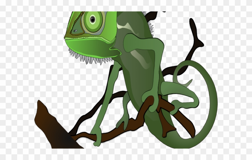 Chameleon clipart animated. Png download