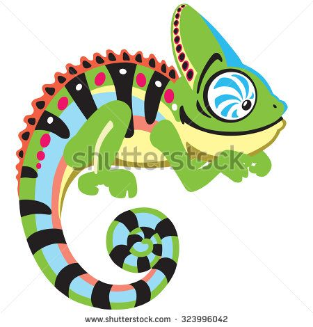 best images on. Chameleon clipart animated