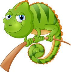Cute frog cartoon pinterest. Chameleon clipart animated