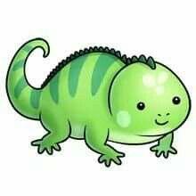 Fluff favourites pinterest chameleons. Chameleon clipart baby