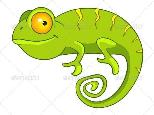 Chameleon clipart baby. Cartoon character adorable avatar