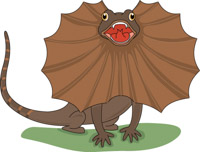 Search results for lizard. Chameleon clipart brown