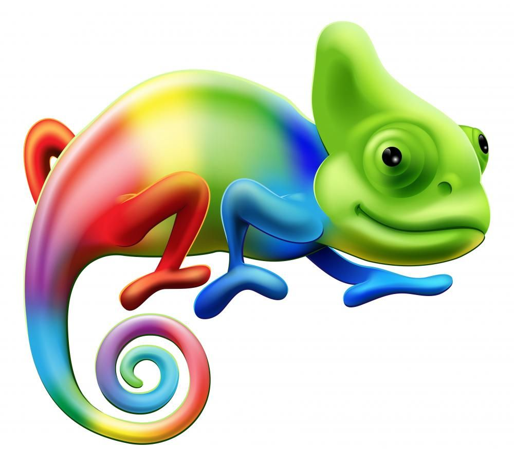 Rainbow decal decals for. Chameleon clipart cartoon