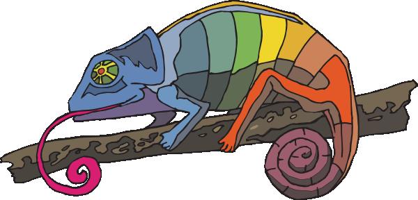 Rainbow clipartpost. Chameleon clipart cartoon