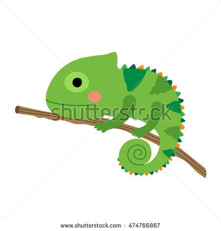 Chameleon clipart cartoon. Desert animal pencil and