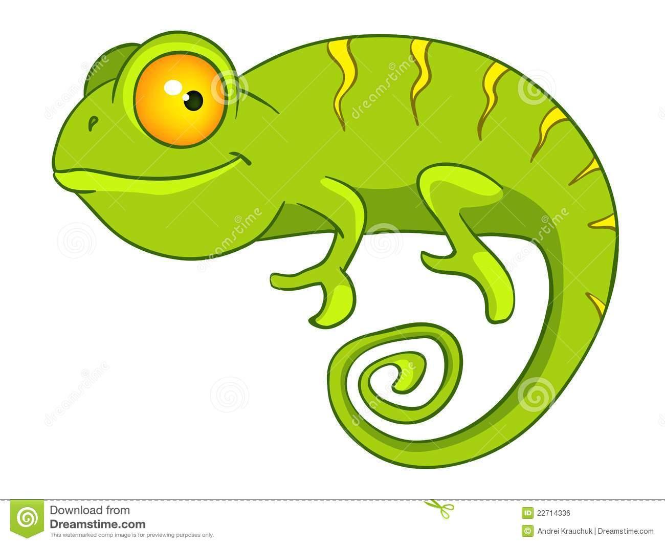 . Chameleon clipart cartoon