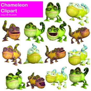 Chameleon clipart cartoon. Funny clip art cute