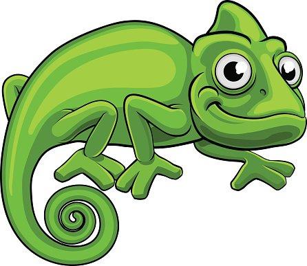 Chameleon clipart cartoon. Premium clipartlogo com