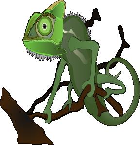 At clker com vector. Chameleon clipart clip art