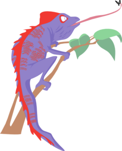 Purple and red at. Chameleon clipart clip art