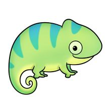 Chameleon clipart colorful. Cute to paint on