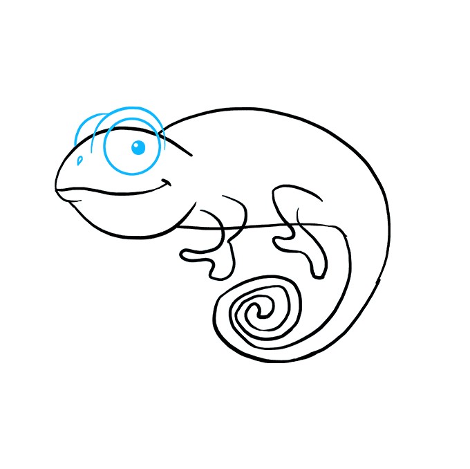 How to a really. Chameleon clipart easy draw