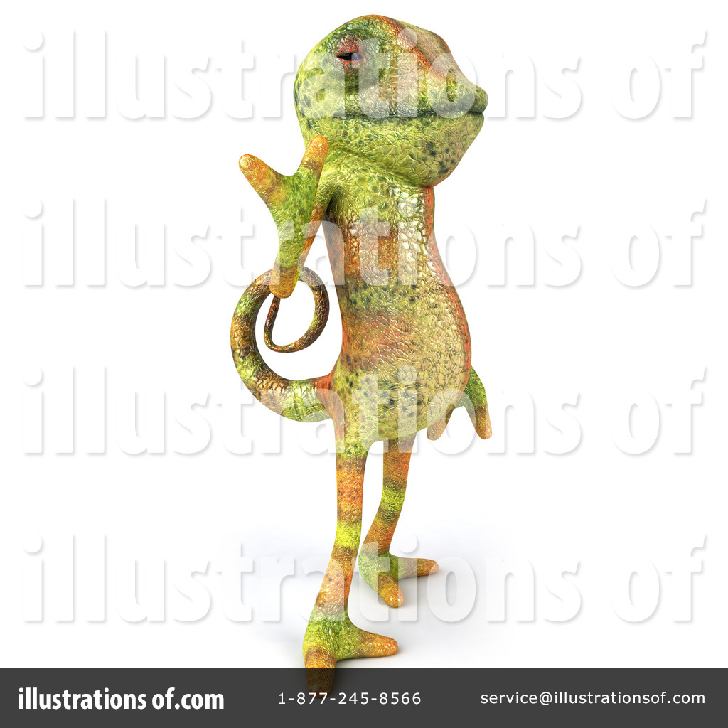 Character illustration by julos. Chameleon clipart gecko