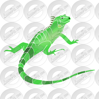 Stencil for classroom therapy. Chameleon clipart iguana