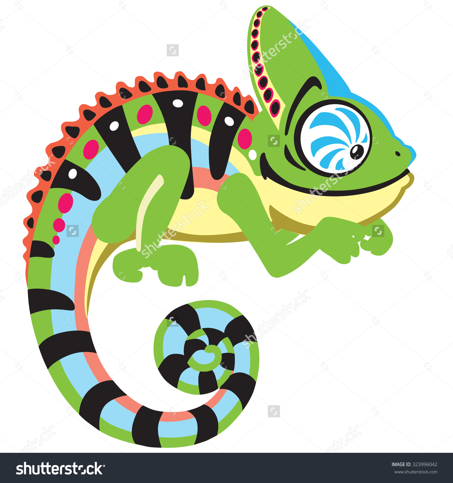 Chameleon clipart illustration. Cameleon reptile free collection