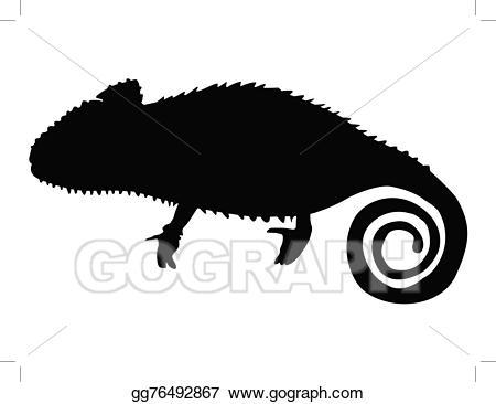 Chameleon clipart illustration. Eps vector stock