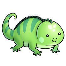 La iguana insurgente iguanainsurgent. Chameleon clipart kawaii