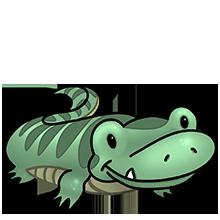 Chameleon clipart kawaii. Croc o dyle fluffs