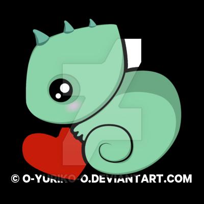 Chameleon clipart kawaii. Baby by o yuriko