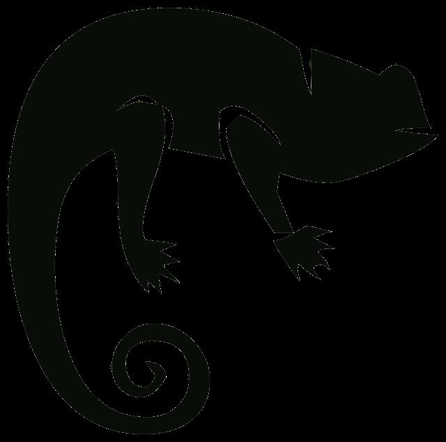 Chameleon outline drawing at. Gecko clipart tuko