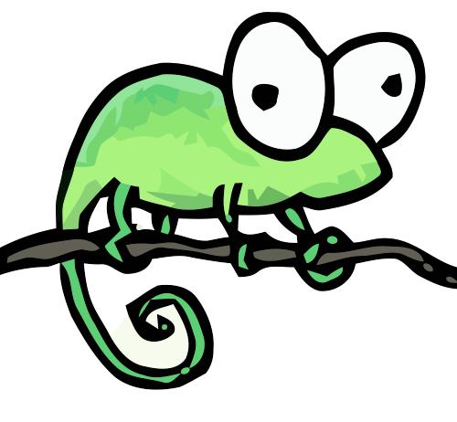 Chameleon clipart simple. Chameleons bluebison net a