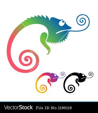 Chameleon clipart simple. Stencils x fonts paper