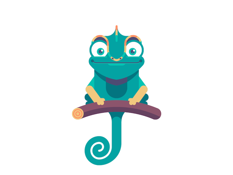 Chameleon clipart simple. Chameleons characters and illustrations