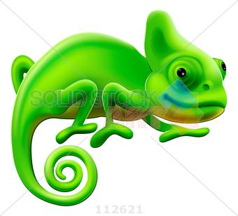 Chameleon clipart tail. Stock illustration of green