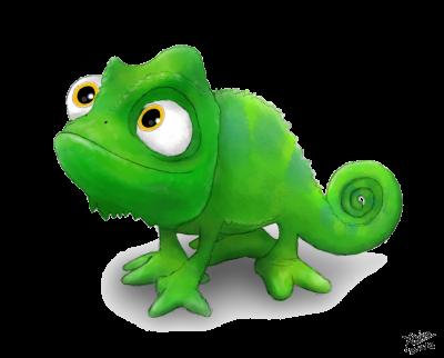 Chameleon clipart transparent background. Download disney pascal free