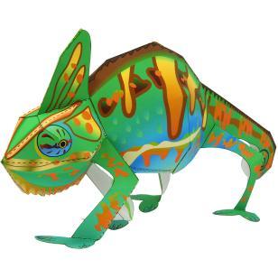 Pet series animals paper. Chameleon clipart veiled chameleon
