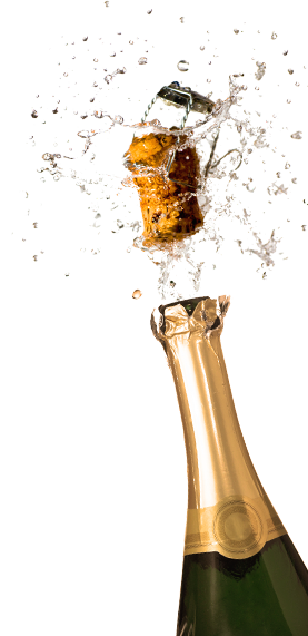 Champagne bottle popping png. Images glass