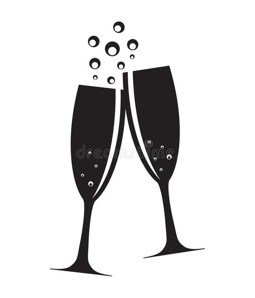 Champaign clipart. Fancy champagne hand drawing