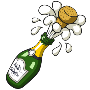Champaign clipart. Ist popping champagne bottle