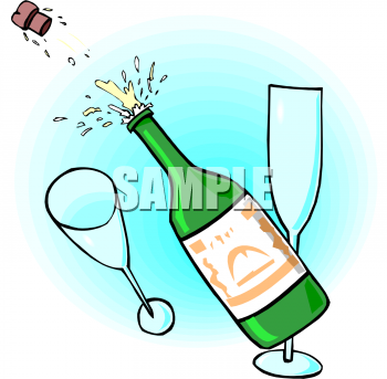 Champaign clipart popped. Picture of a champagne