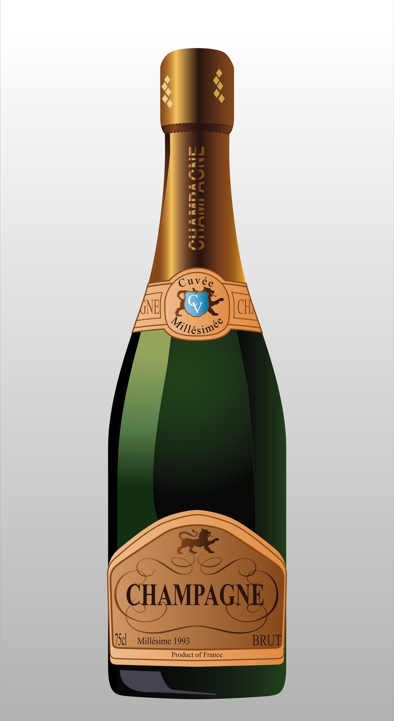 Champaign clipart alcohol. Bottle of champagne big