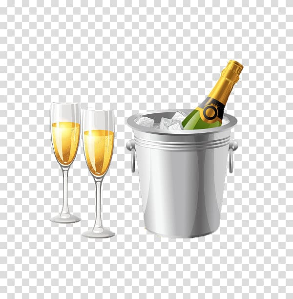 Glass wine bottle ice. Champagne clipart alcohol
