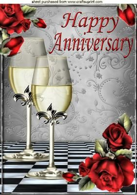 Red roses and for. Champagne clipart anniversary