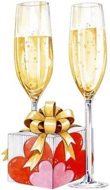 Champagne clipart anniversary. Colored templates pinterest template