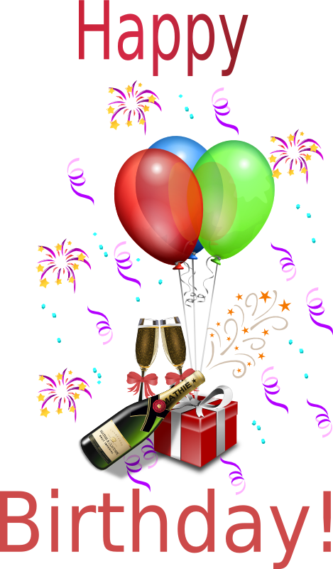 Free animations vectors champagne. Boys clipart happy birthday