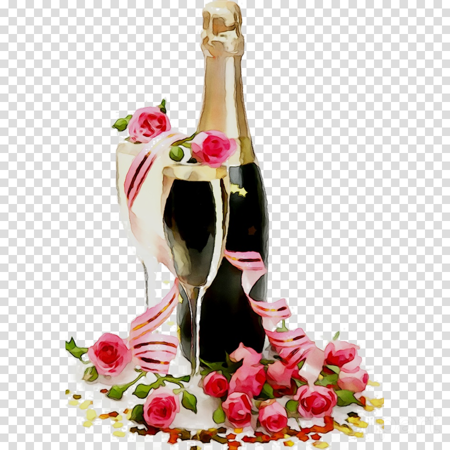 Champagne clipart birthday champagne. Flowers background