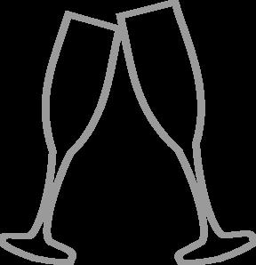 Champaign clipart black and white. Champagne glass clip art
