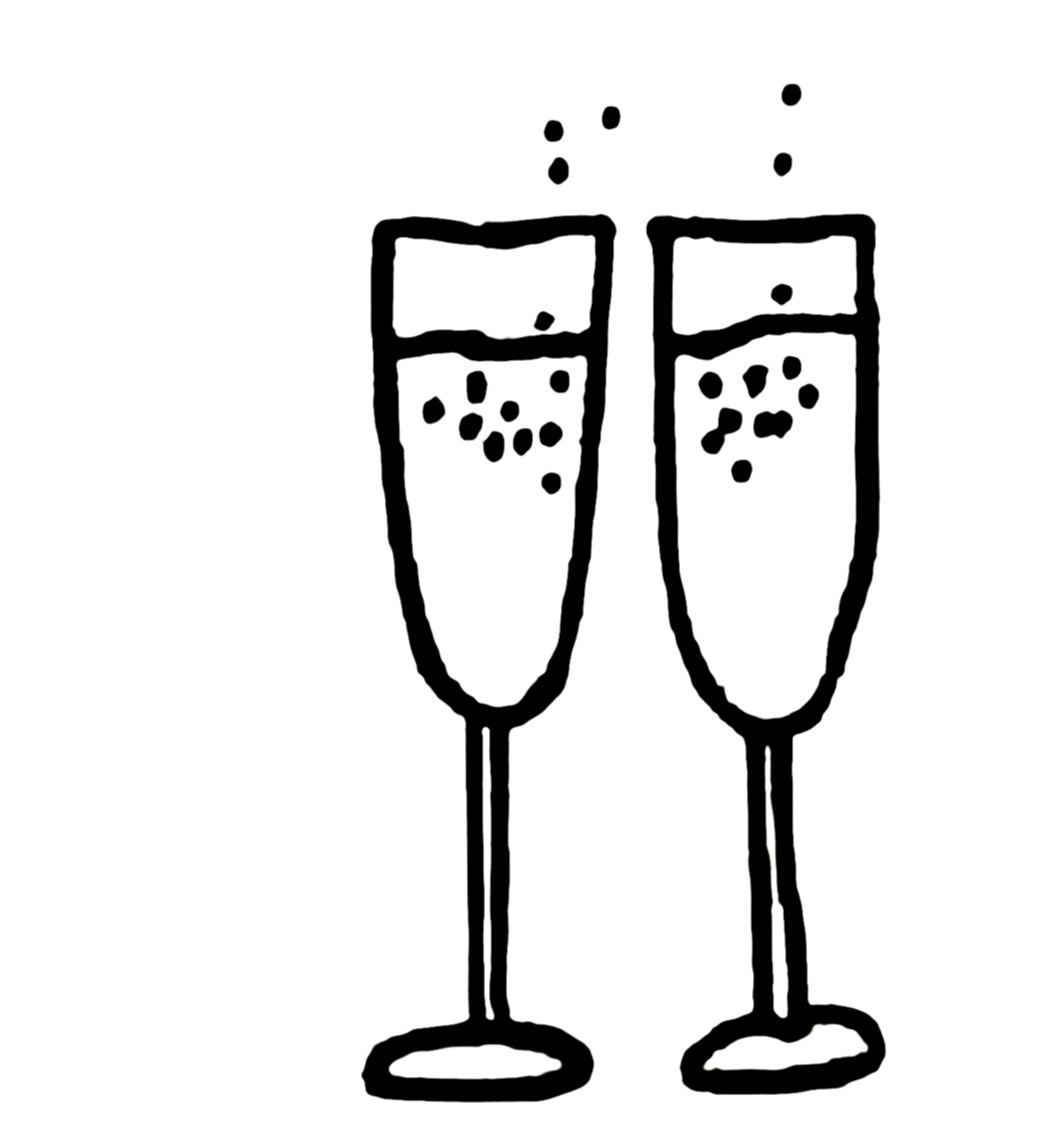 Station . Champagne clipart black and white