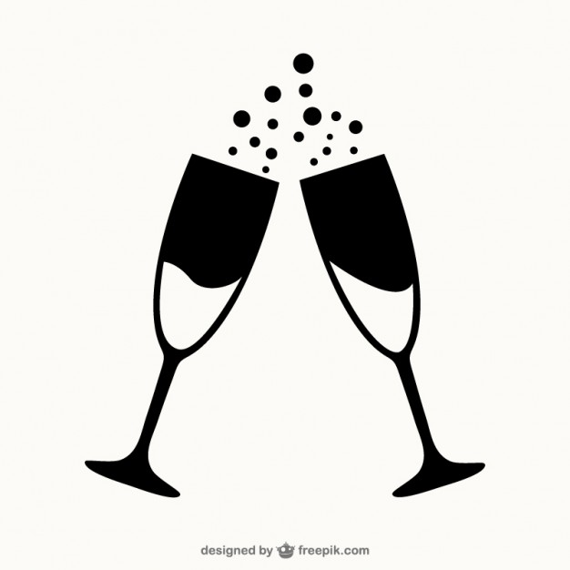 Champagne clipart black and white. Station