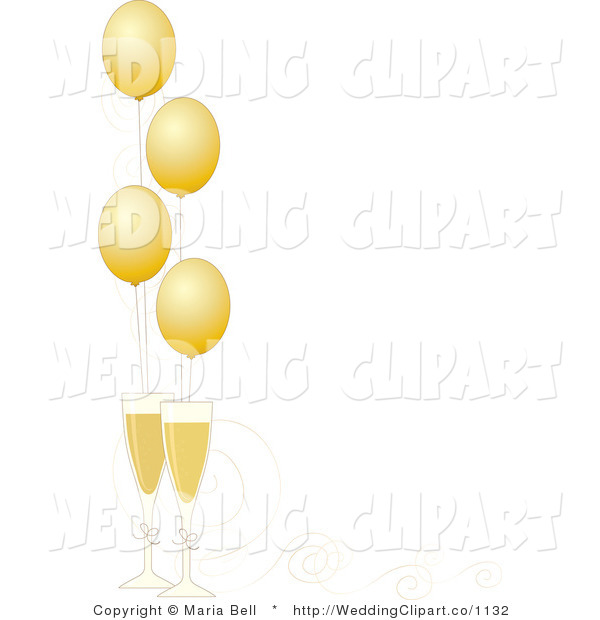 Champagne borders free . Champaign clipart anniversary party