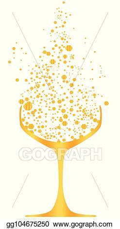 Eps illustration golden bubble. Champaign clipart bubbly